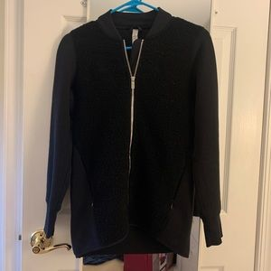 Lululemon Black Fleece Panel Bomber Jacket